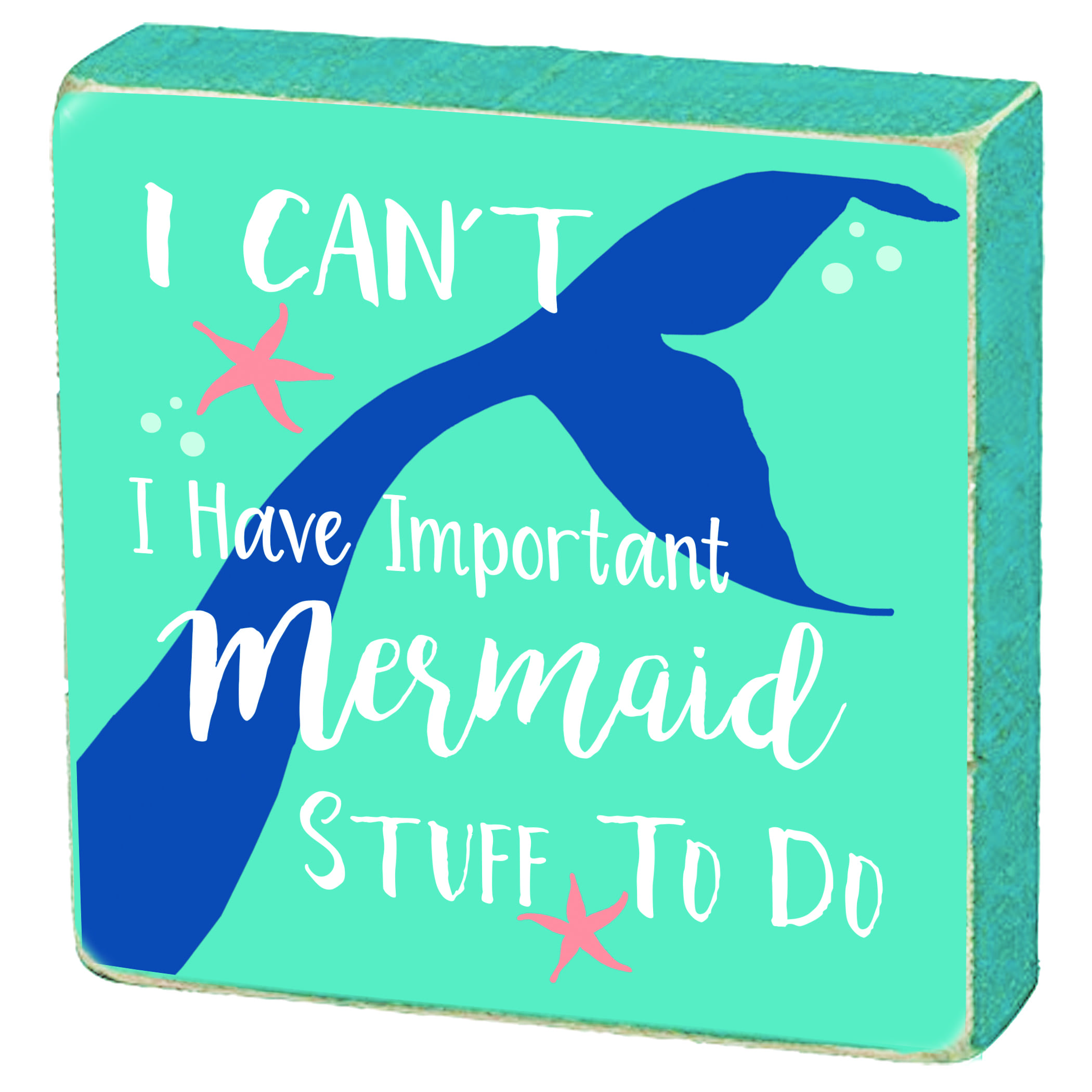 ELC Designs Mermaid Block Sign