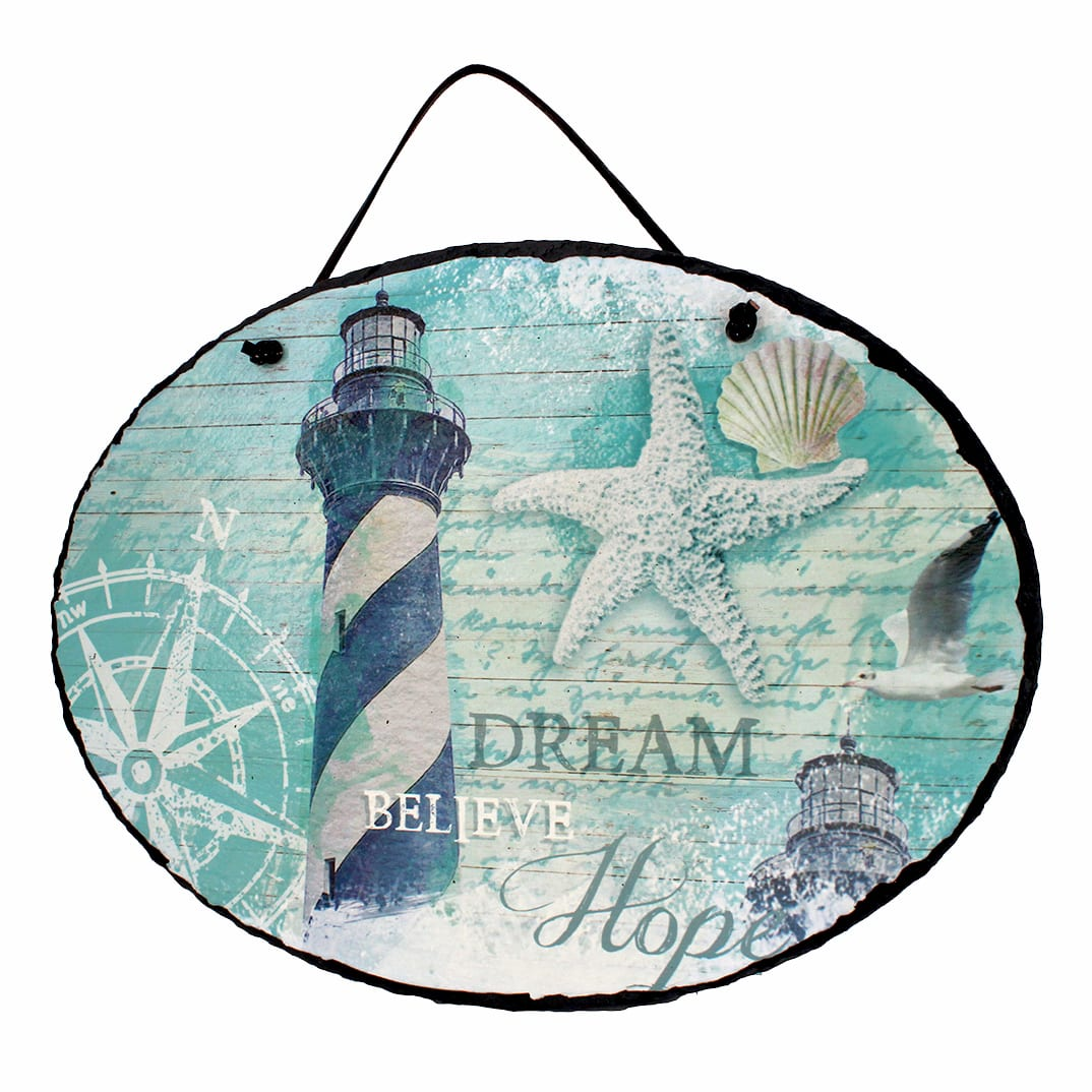 20072 - Lighthouse Slate Home Decor