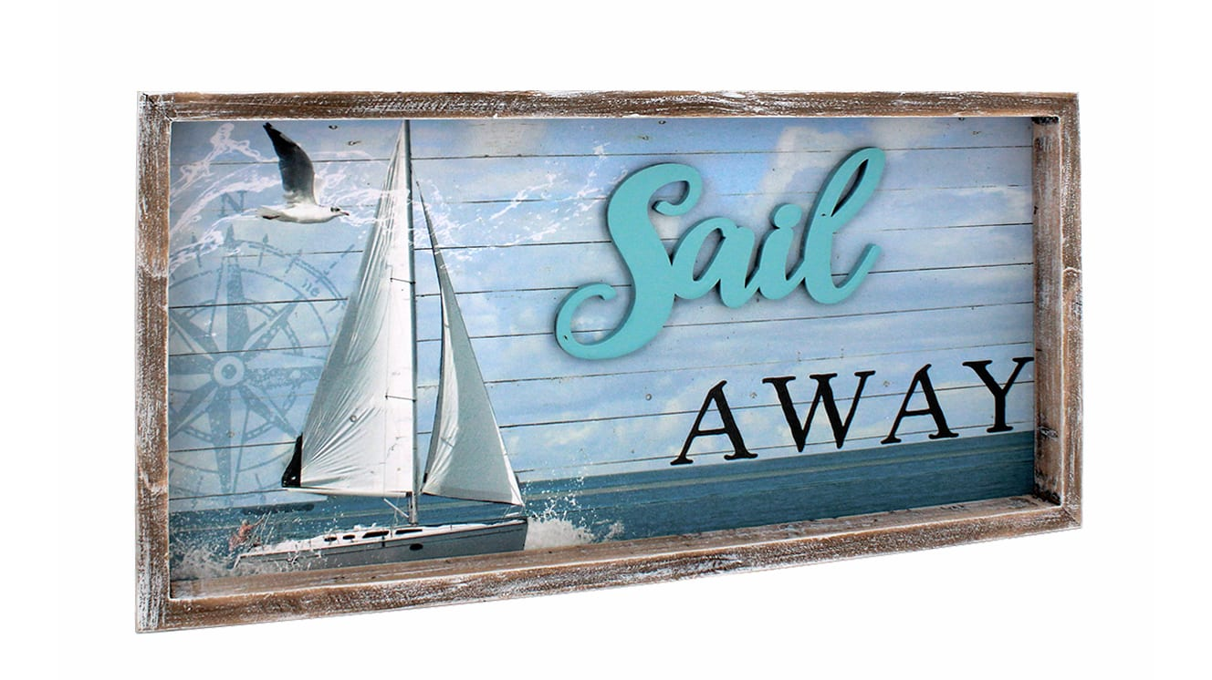 20073 - Sail Away Shadowbox Sign